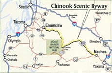 chinook Scenic Byway in the State of Washington