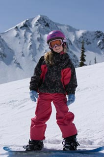 Young Skier at Crystal Mountain Resort