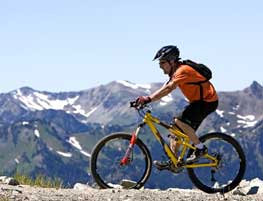 Mountain biking near Crystal Mountain